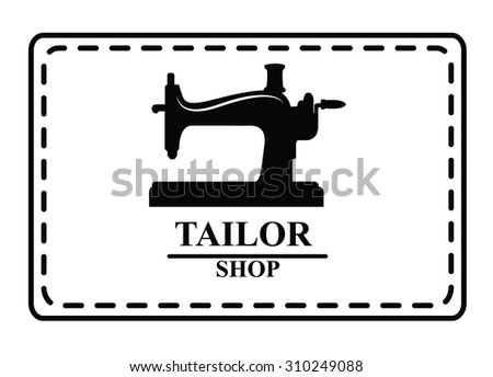Tailor shop : Sewing label badge - stock vector