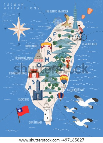 Map Of Taiwan Stock Images RoyaltyFree Images Vectors - Map of taiwan