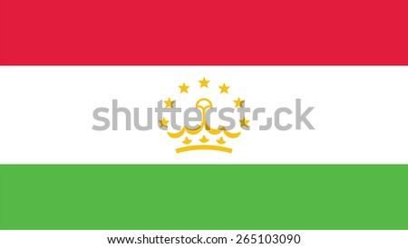 Tajikistan Flag for Independence Day and infographic Vector illustration. - stock vector