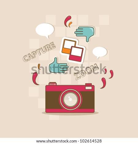 take a photo! - stock vector