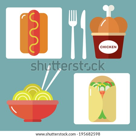 Takeaway Set II - stock vector