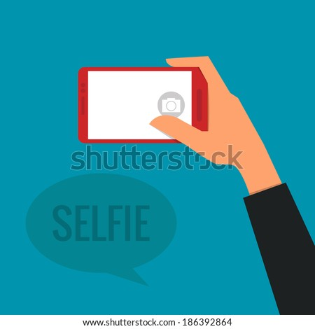 Taking a Selfie Photo   - stock vector