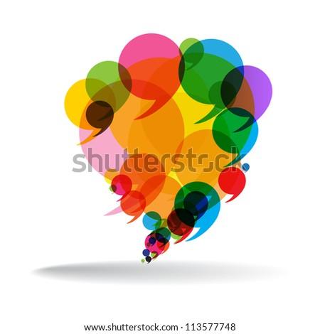 Talk Balloon Abstract - stock vector