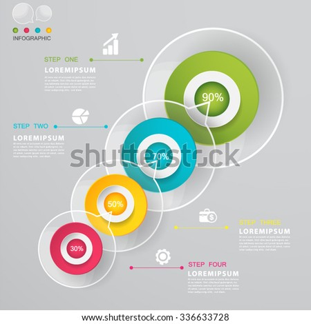 Talk bubble Modern Infographic design element banner. - stock vector
