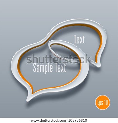 Talk bubble symbol concept. Vector illustration - stock vector