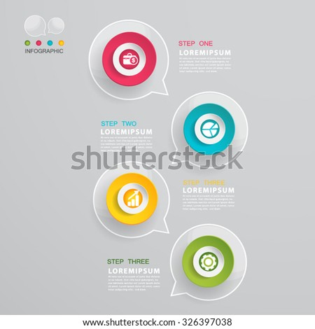 Talk buble Modern Infographic design element banner. - stock vector