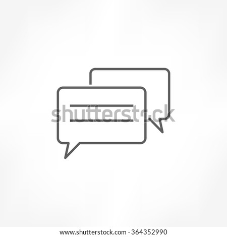 talk chat comment icon - stock vector