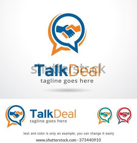 Talk Deal Logo Design Template  - stock vector