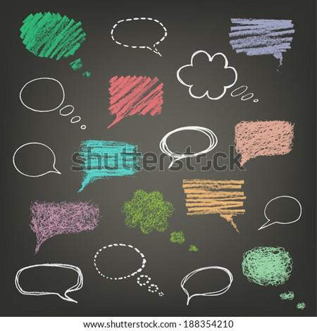 talking bubble set - stock vector