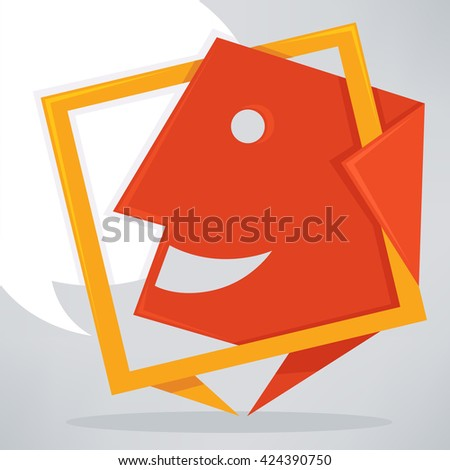 talking, speaking and communication icon, sign or banner - stock vector
