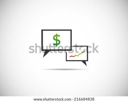 Talks Dollar - stock vector