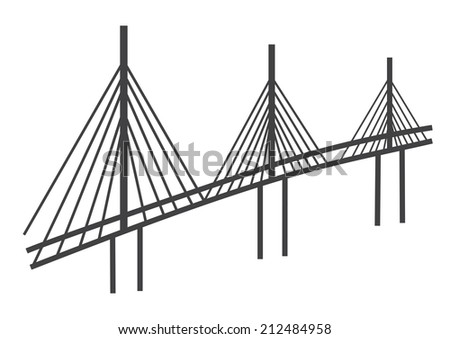 tall bridge vector