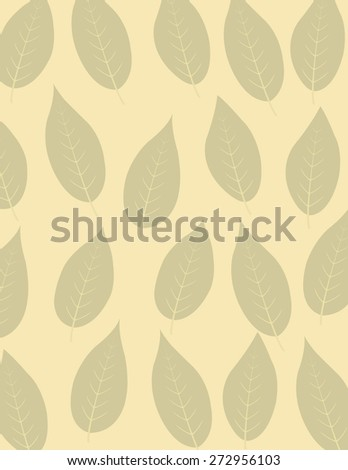 Tan leaf repeating pattern over tan background