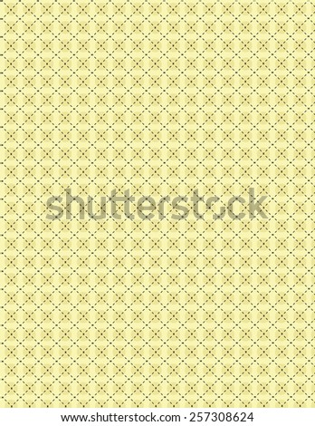 Tan repeating circle pattern with line over yellow background - stock vector