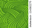 Tangled green seamless pattern. - stock