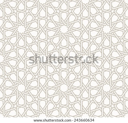 Tangled modern pattern, based on traditional oriental patterns. Seamless vector background. Two colors - easy to recolor. - stock vector