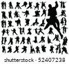 tango silhouette-vector - stock vector