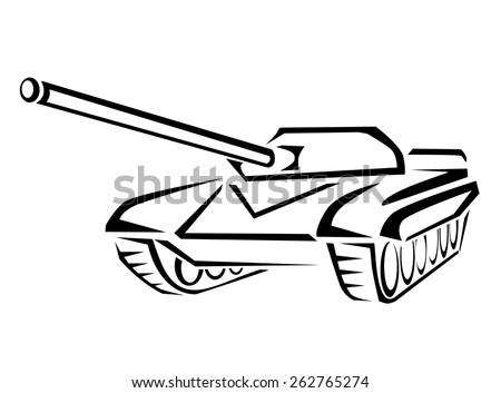 Tank - stock vector