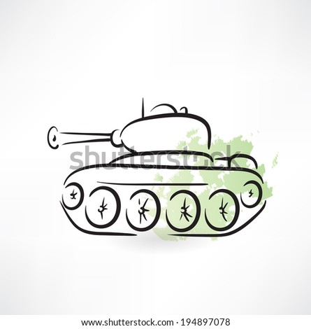 tank icon - stock vector