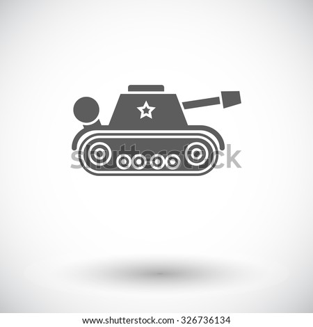 Tank toy icon. Flat vector related icon for web and mobile applications. It can be used as - logo, pictogram, icon, infographic element. Vector Illustration.  - stock vector
