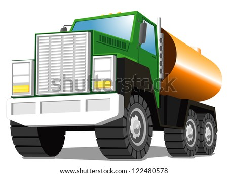 tank truck. vector illustration - stock vector