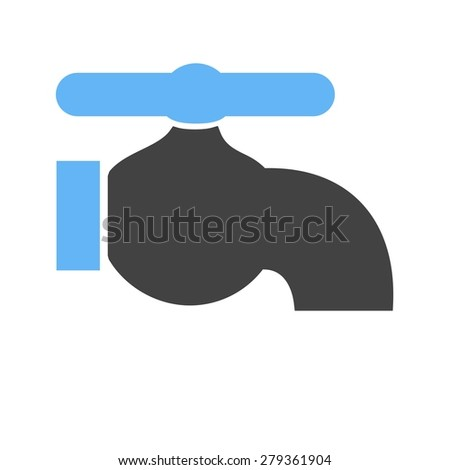 Tap, faucet, water icon vector image. Can also be used for energy and technology. Suitable for web apps, mobile apps and print media. - stock vector