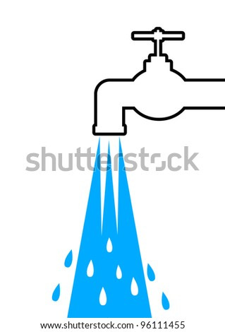 Tap icon - stock vector