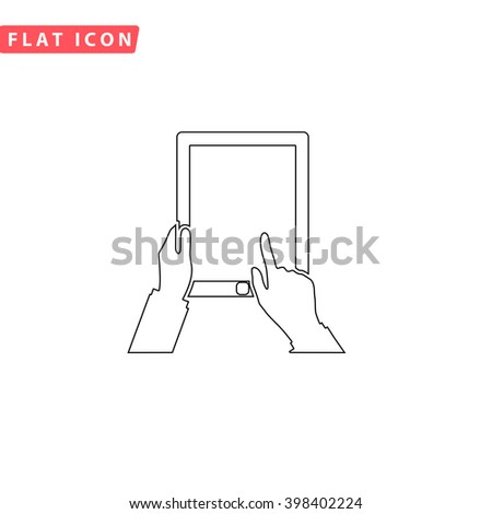 Tap Tablet Icon Vector.  - stock vector