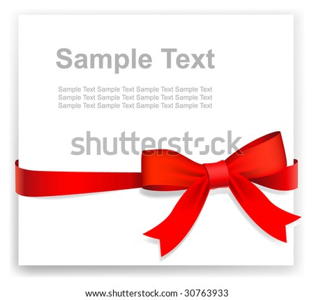 Tape and bow - stock vector