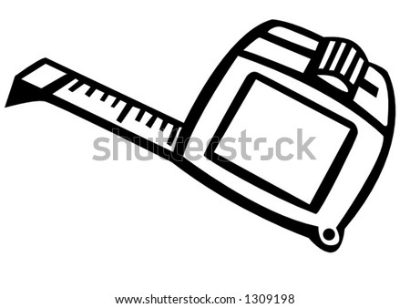 tape measure ruler - stock vector