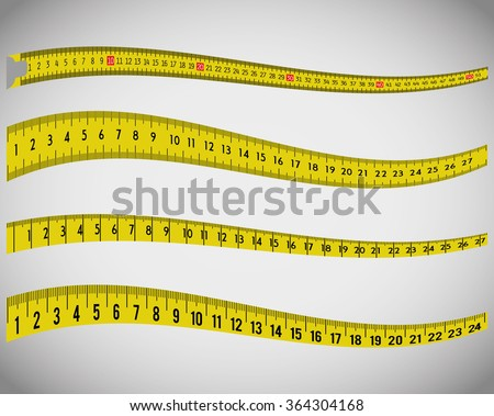 Tape measures, measuring tapes - stock vector