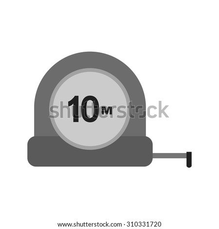 Tape, measuring, tool icon vector image. Can also be used for construction, interiors and building. Suitable for use on web apps, mobile apps and print media. - stock vector