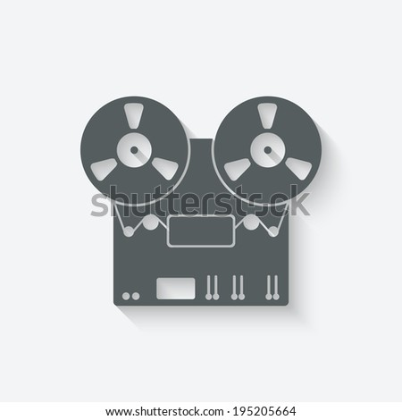 tape recorder icon - vector illustration. eps 10 - stock vector