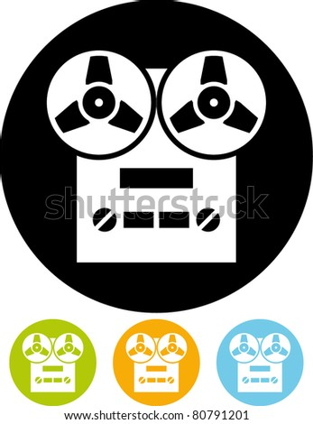Tape recorder (Vector) - stock vector