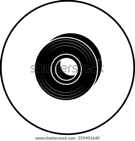 tape roll symbol - stock vector