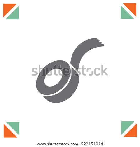 Tape vector icon. Duct tape sign. Adhesive construction symbol