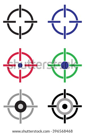 Target Aim Icon - stock vector