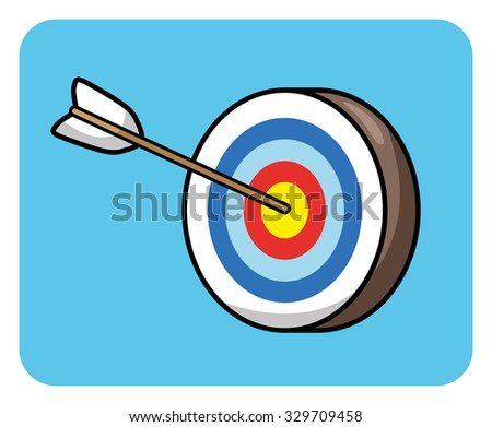 Target and arrow icon. - stock vector