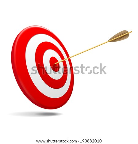 Target and Arrow, Vector illustration