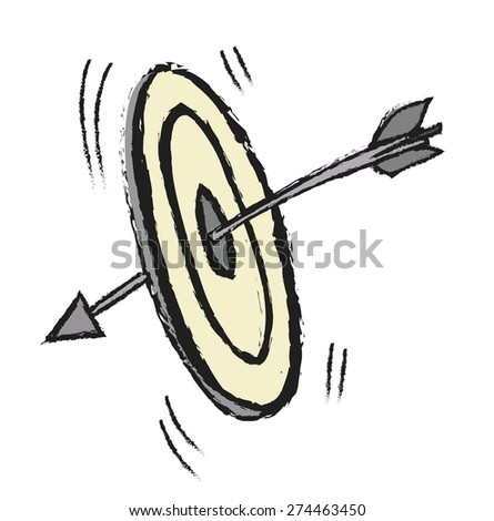 target and arrows, vector illustration - stock vector