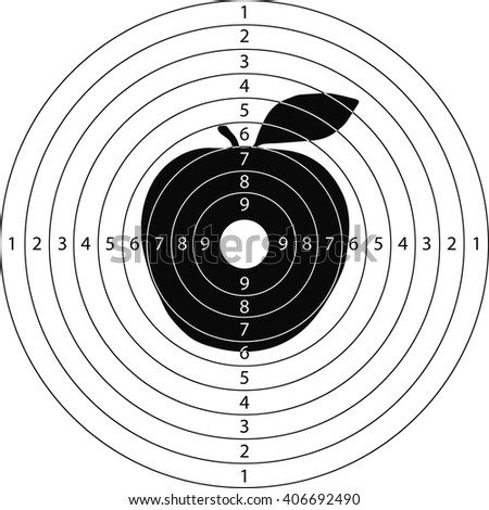 target apple for the shooting range small arms made in the vector