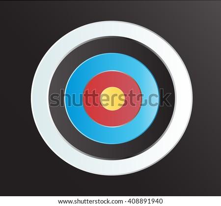 Target Archery art vector background  - stock vector