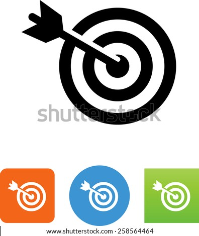 Target, arrow and bullseye symbol for download. Vector icons for video, mobile apps, Web sites and print projects.  - stock vector