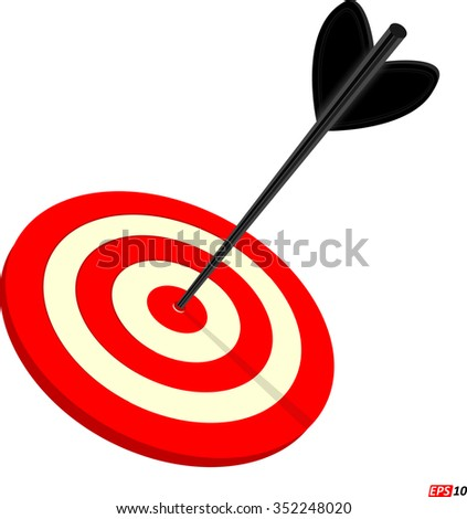 Target, Bulls eye, Victory, Accuracy or Success - Vector Illustration - stock vector