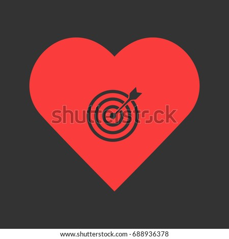 Heart bullseye stock images royalty free images vectors target bullseye arrow icon flat simple pictogram on heart background vector illustration symbol thecheapjerseys Gallery