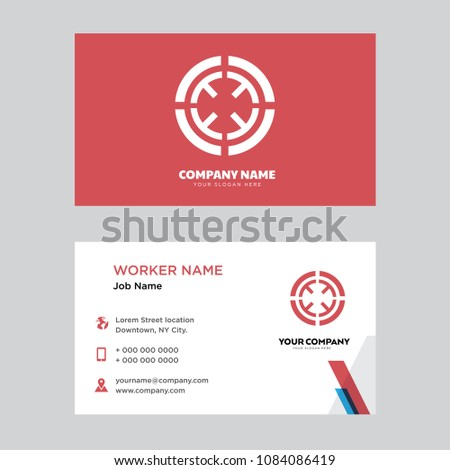 Target business card design template visiting stock vector target business card design template visiting for your company modern horizontal identity card vector colourmoves