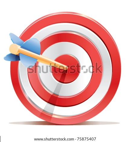 Target detailed vector illustration - stock vector