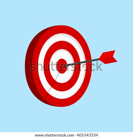 Target Flat Icon Vector Illustration  - stock vector