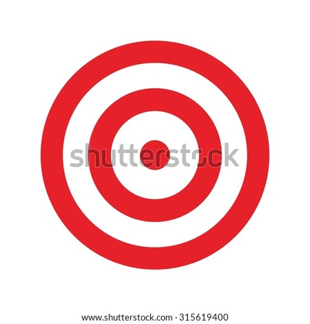 target for archery. shooting target logo vector. - stock vector