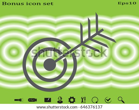 target, goal, icon, vector illustration eps10